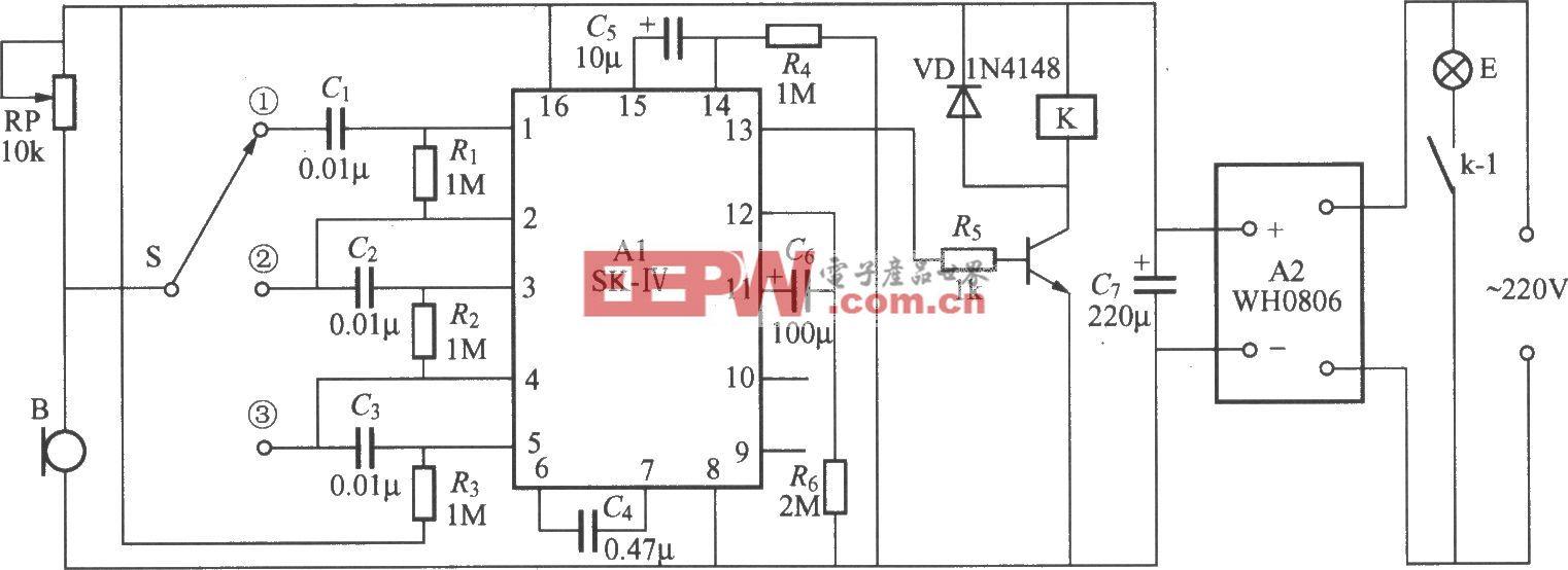 声控延迟灯开关电路(1)