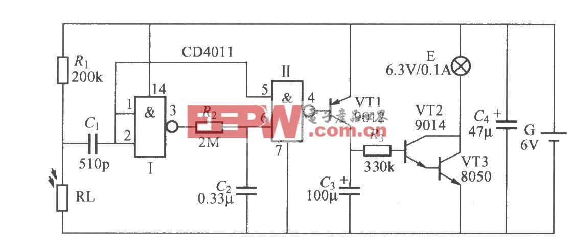 光控延迟灯电路(4)