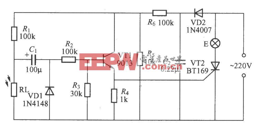 图205光控延迟灯电路(2)