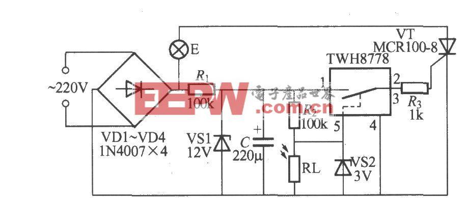 使用MAX837的光控路燈電路