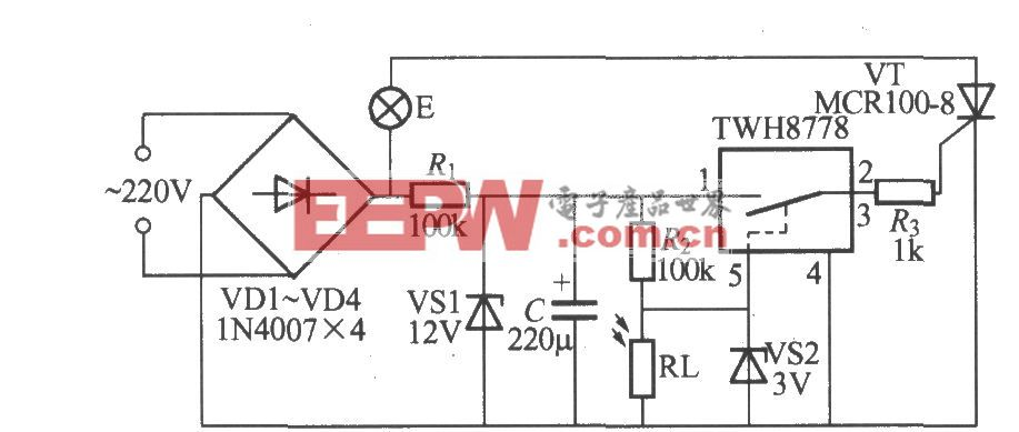 使用TWH8778的光控路燈電路(2)