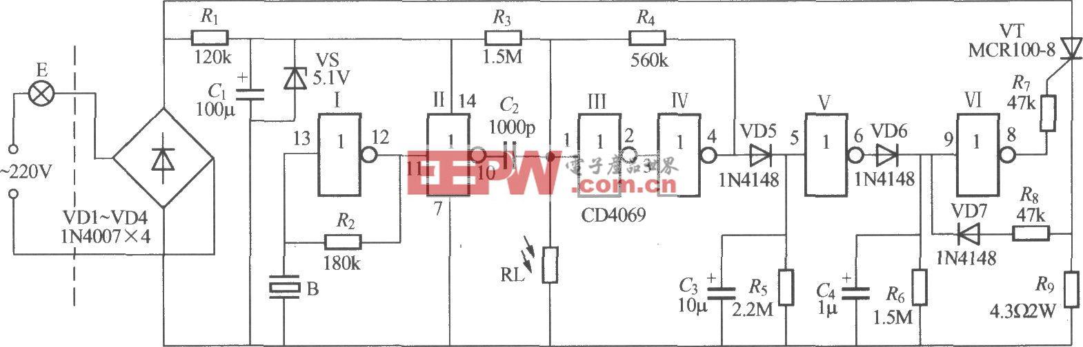 數字電路聲光控樓梯延遲開關電路(6)
