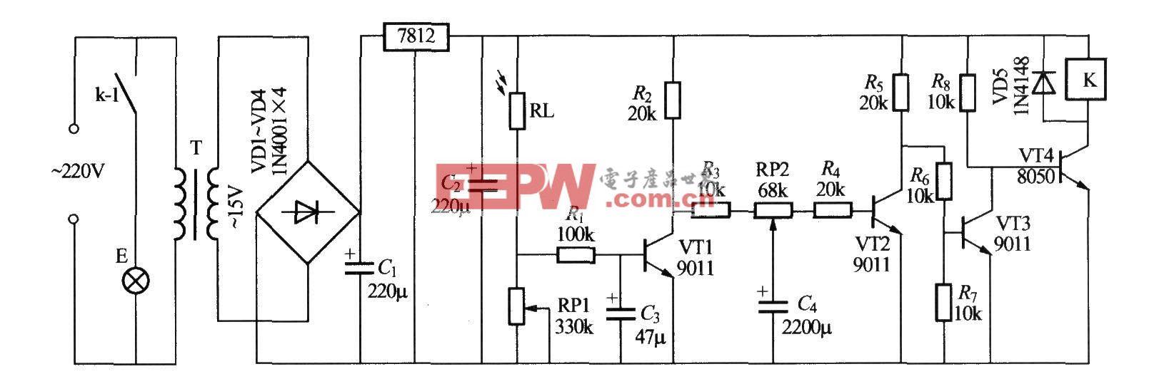 简易光控路灯电路(6)