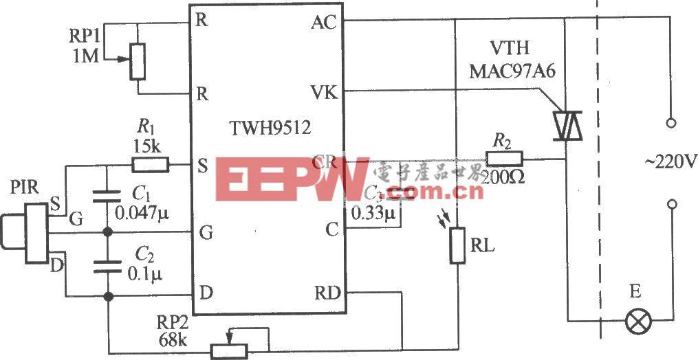 熱釋電紅外感應自動燈電路(9)