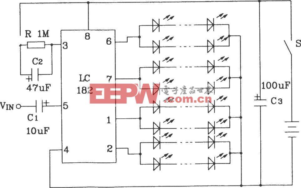 LC181音频调制彩灯控制芯片构成直流彩灯控制电路