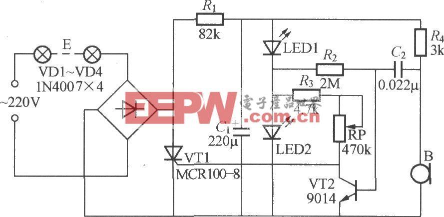 声控式音乐彩灯电路(2)