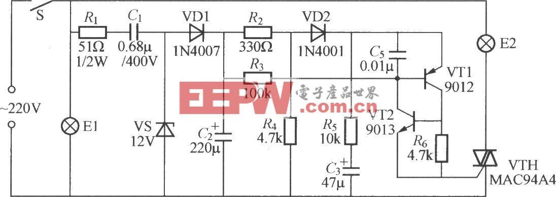 单开关多灯控制电路(1)