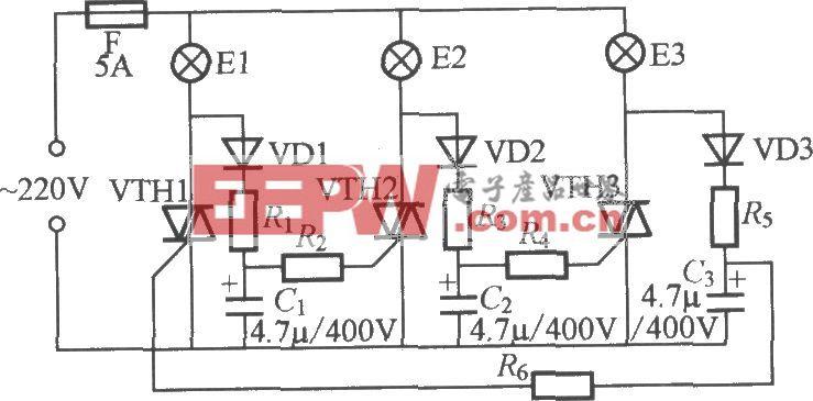 三路闪烁灯串电路(3)