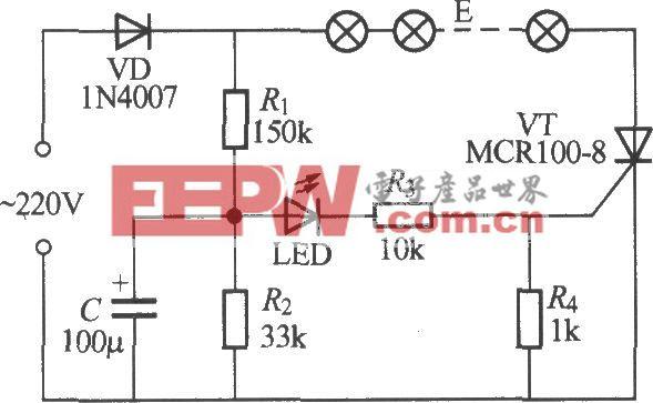 单路闪烁灯串电路(2)