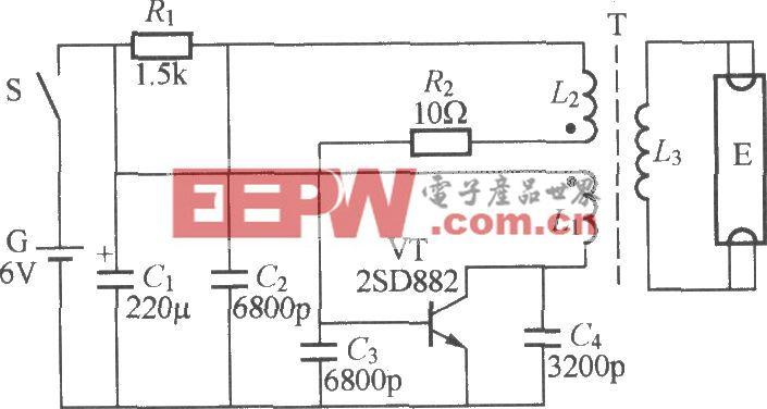 电池供电荧光灯电路(1)