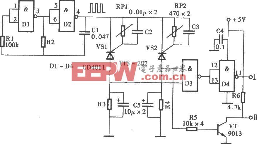 可任意设定温控范围的温控器电路