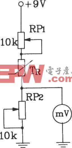 T-121温度传感器构成电子温度表电路