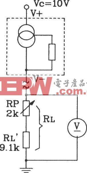 SL134集成温度传感器构成简易温度计电路