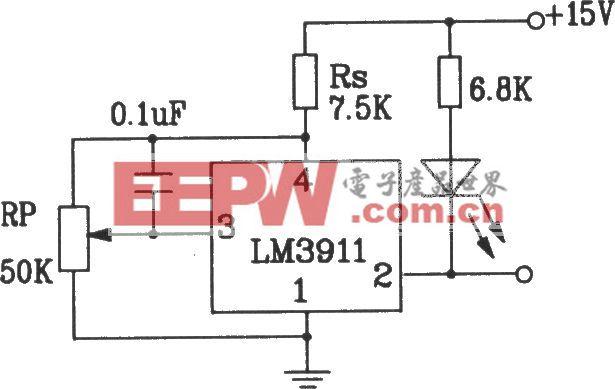 由LM3911单片温度控制集成电路构成的双电源测温电路