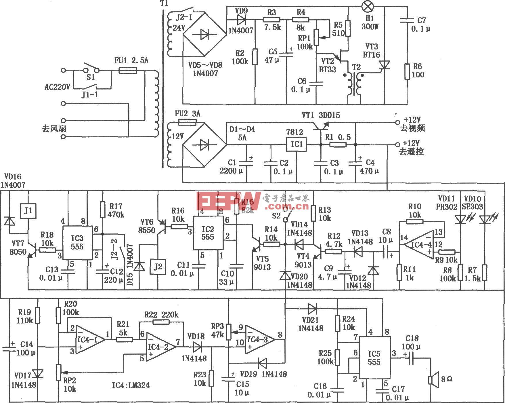 液晶投影机多功能控制器