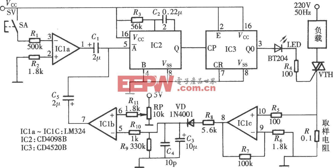 可变门限的过电流、过电压保护电路