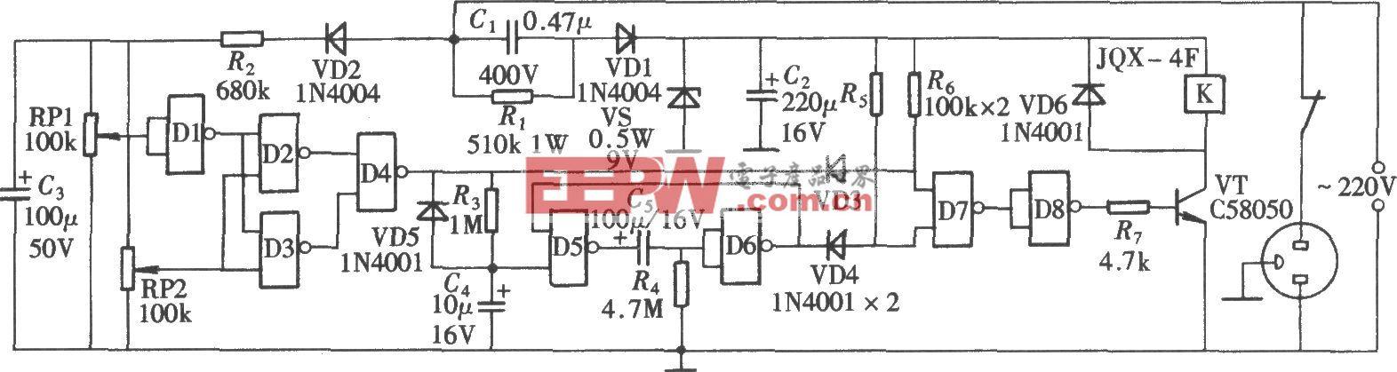 电源超欠压检测与延时保护电路