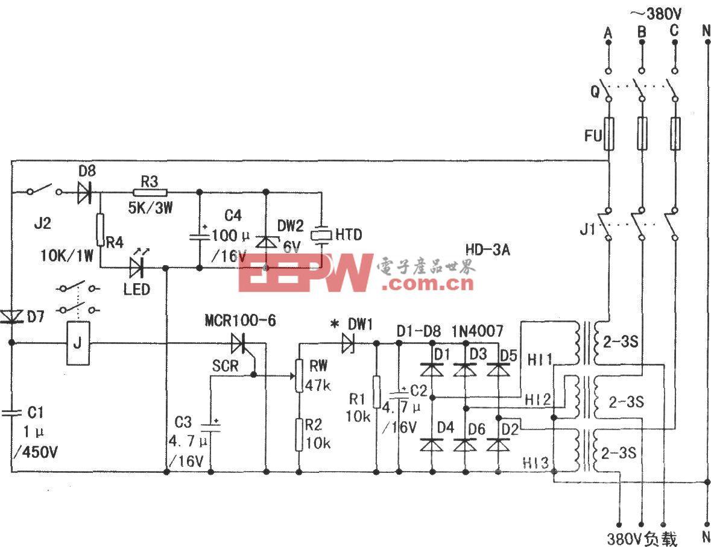 H D一3A型节能限额三相供电保护器