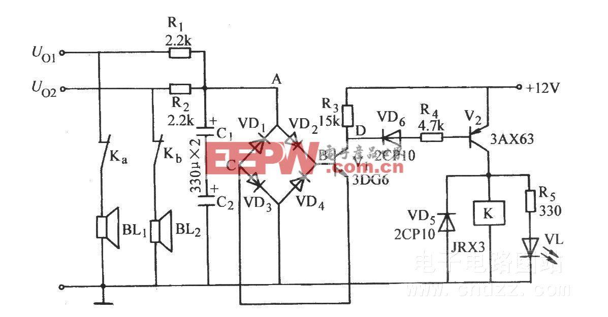 桥式检拾型喇叭保护电路(二)