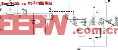 三相四线制的缺相保护电路