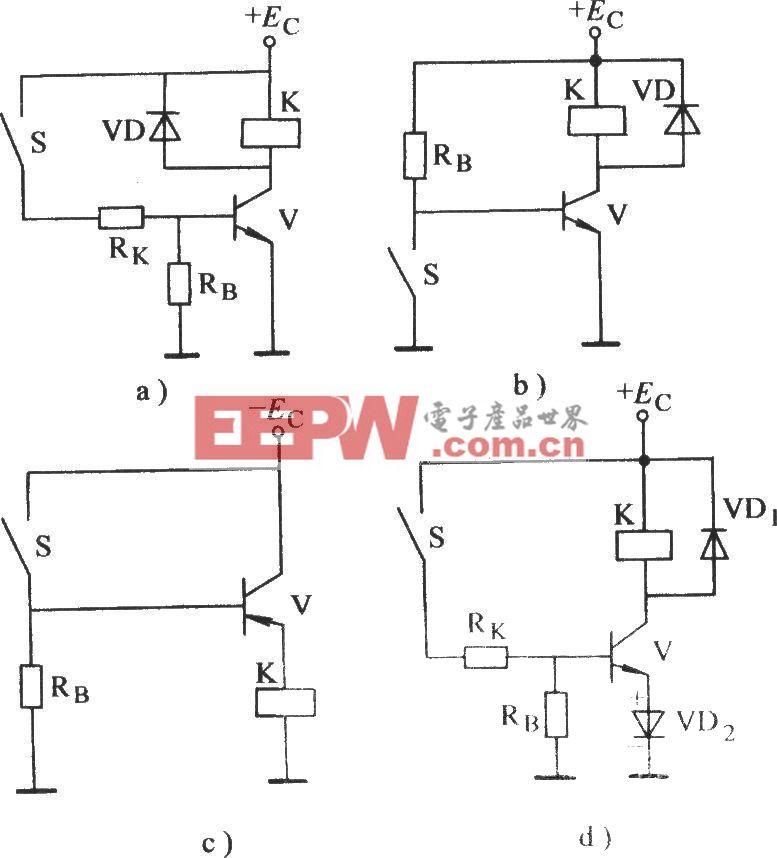 常用的控制基极的晶体管电子继电器