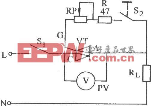 双向晶闸管门极限流电阻调整电路