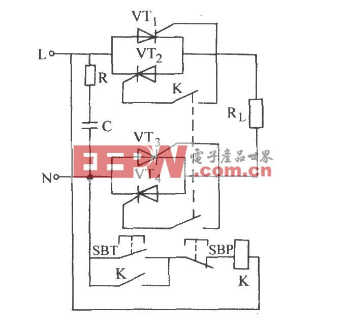 普通晶闸管单相控制电路