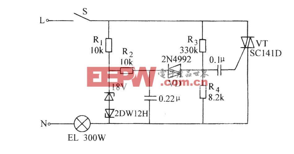 双向晶闸管延长白炽灯使用寿命电路