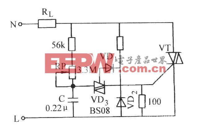 双向晶闸管无滞后现象的相控电路