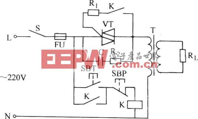 双向晶闸管对单相电感性负载控制电路