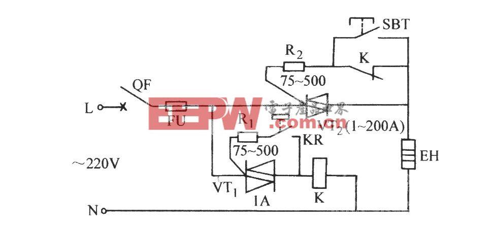 双向晶闸管电接点温控电路