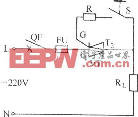雙向晶閘管單相控制電路
