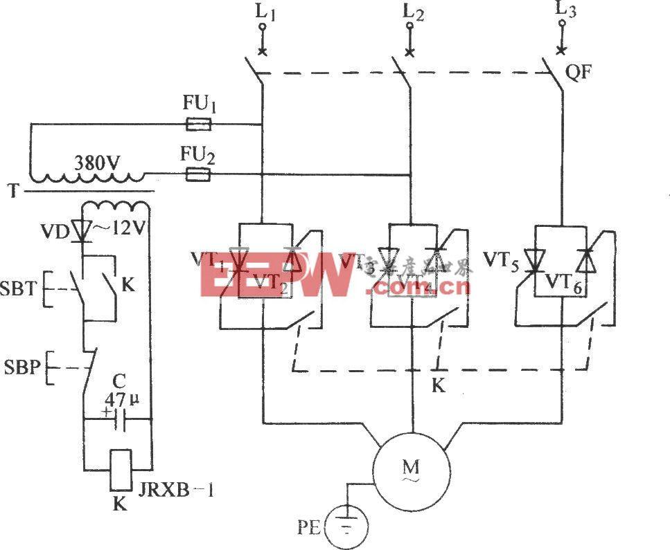 普通晶閘管三相控制電路