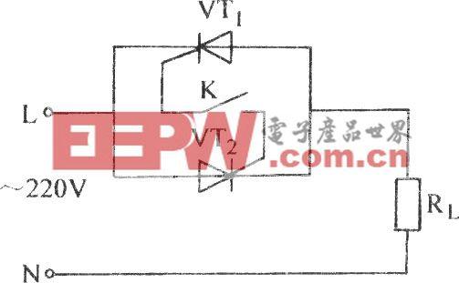 普通晶閘管單線控制電路