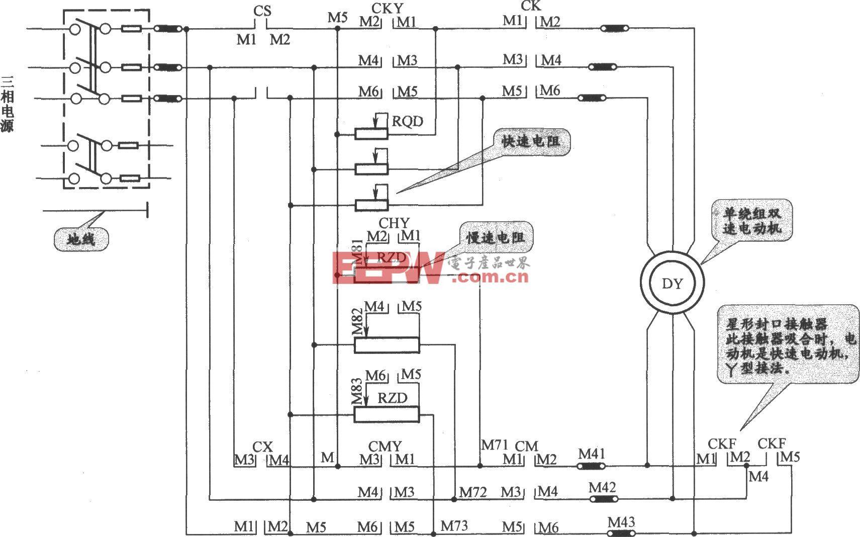JHo-751半自动货梯主电路