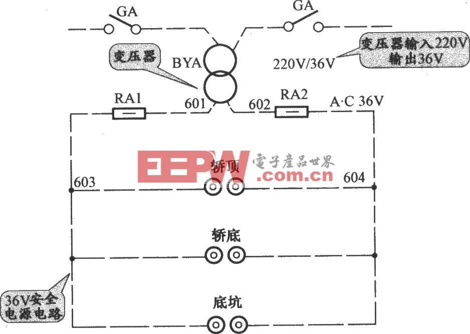 APM-81交流双速电梯安全照明电路