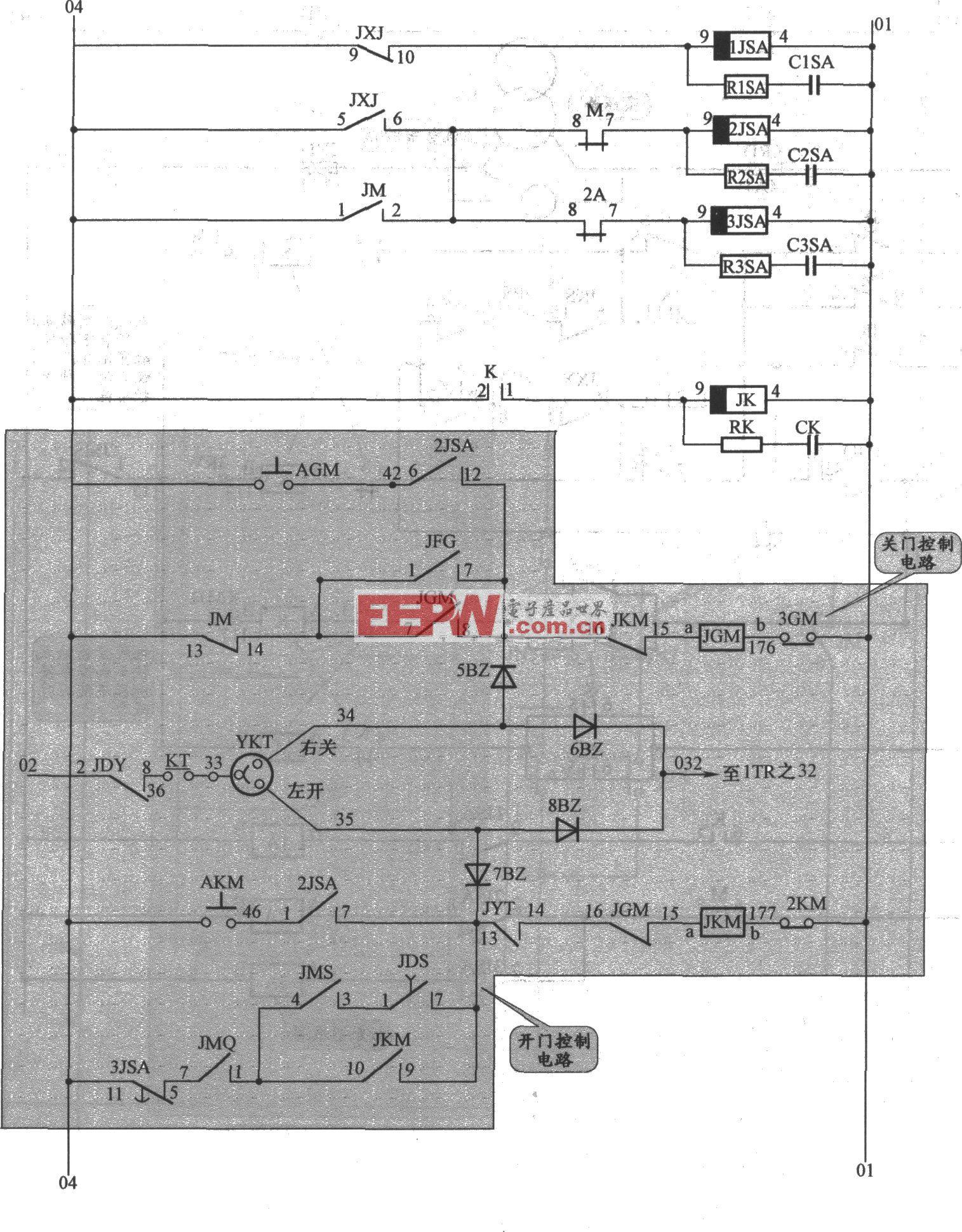 APM-81电梯开门机控制电路