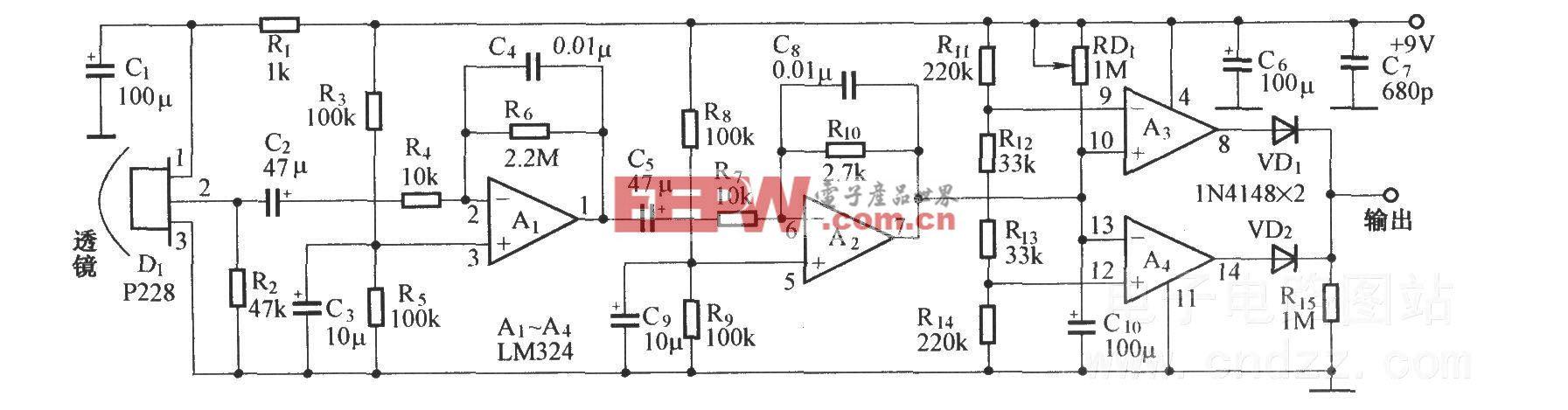 熱釋電紅外探測電路