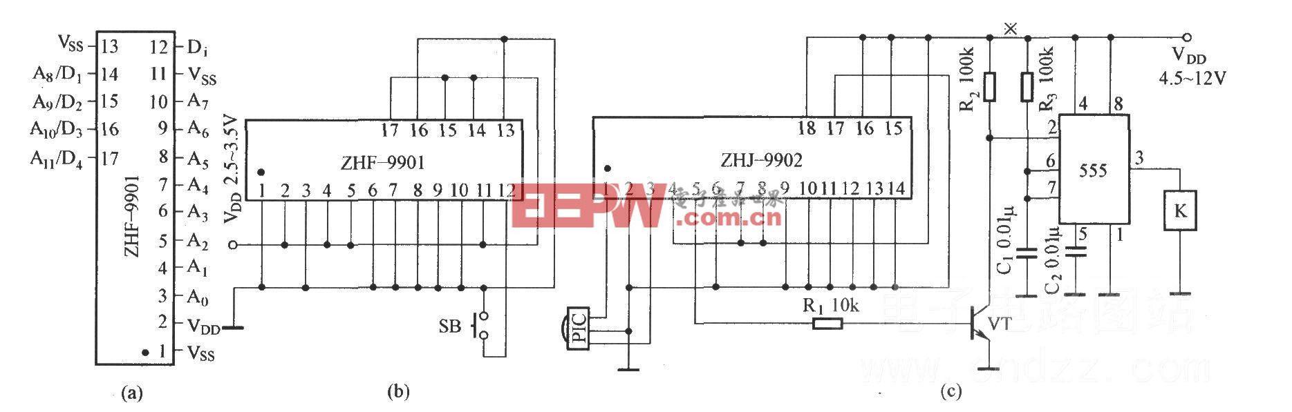 由ZHF-9901和ZHJ-9902组成的电路