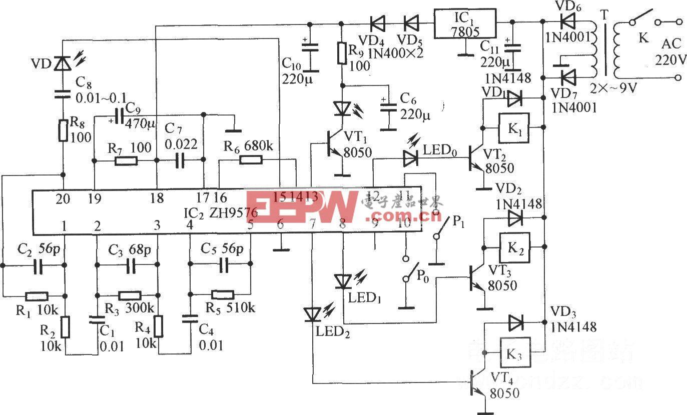 反射式红外控制电路