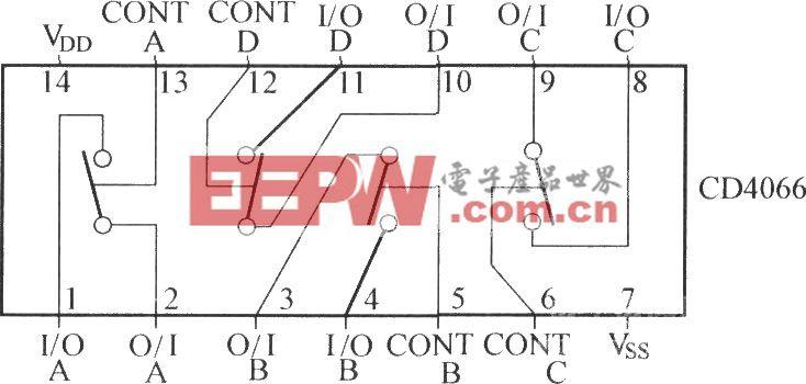 CD4066集成电路引脚功能图