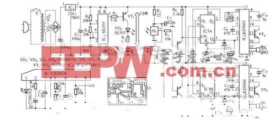 红外控制电子迎宾装置电路