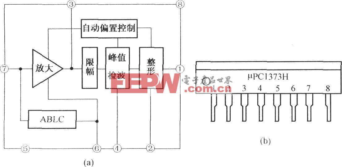 μPC1373H及LA7224的内电路及引脚