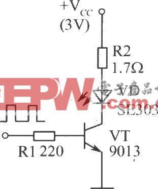 单只红外发光二极管的驱动电路
