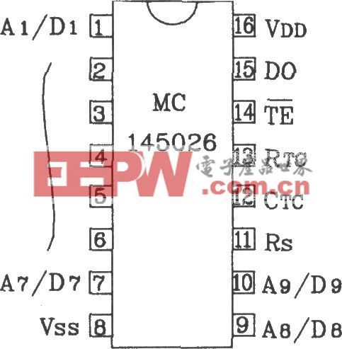 MC145026/145027构成红外发射、接收电路图