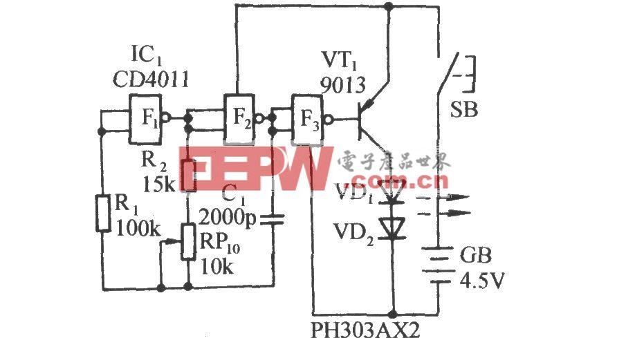 红外遥控音乐插座电路(二)(PH303A)