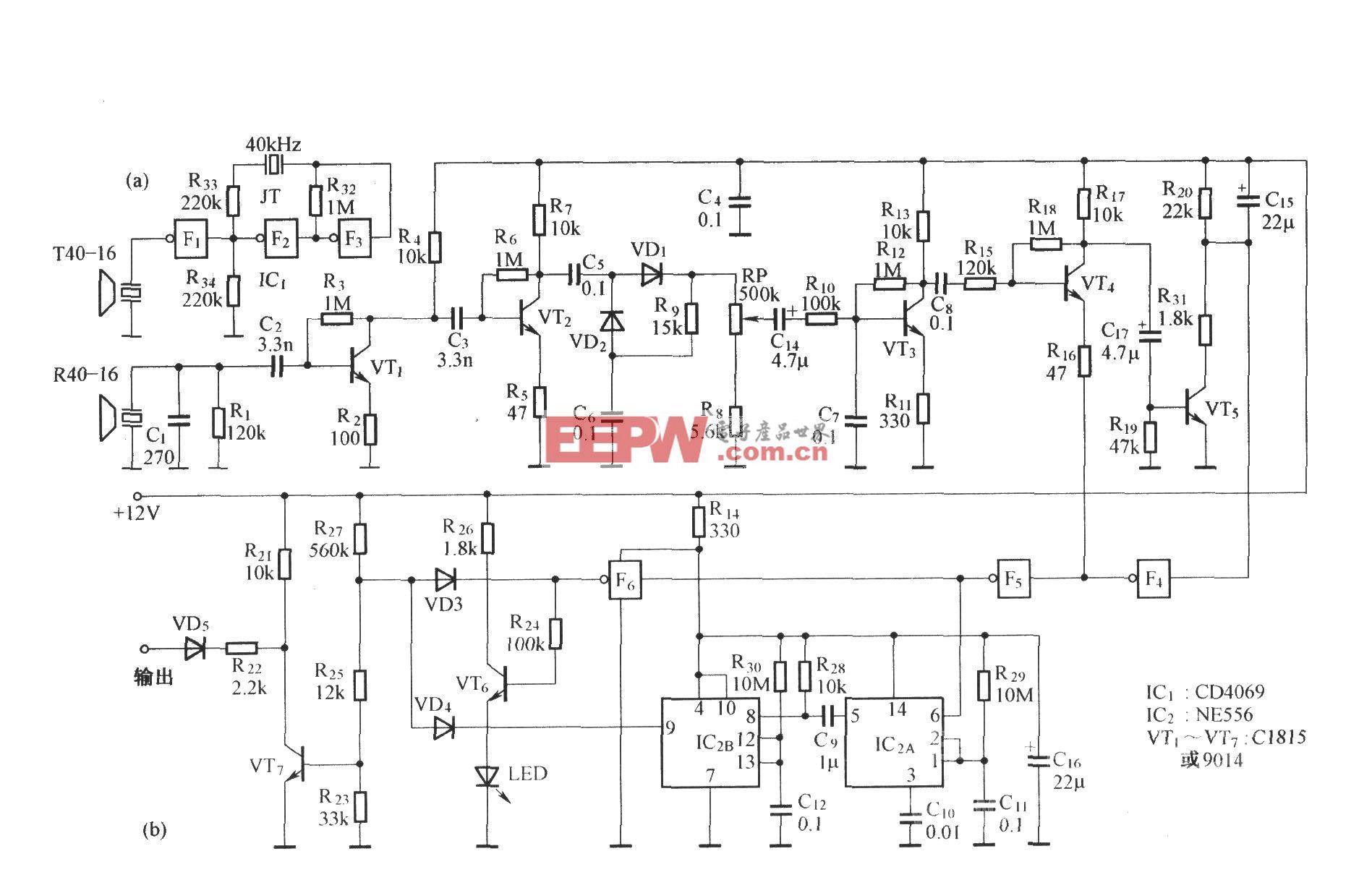 多用途超声波探测器