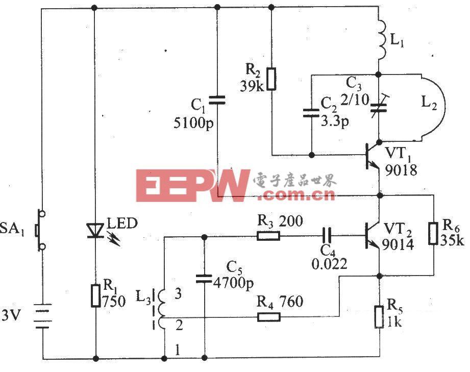遥控调光调速发射器电路原理图