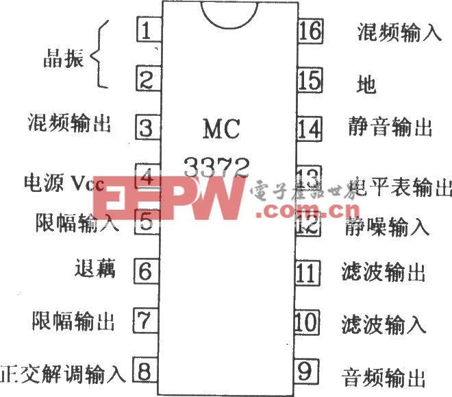 由MC3372和MC341196D构成的45MHz窄带无线电接收电路图