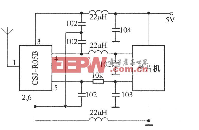 CSJ-R05B与单片机配合的应用电路